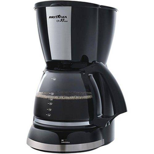 Cafeteira Elétrica 38 / Xícaras Preta Cp38 - Britânia