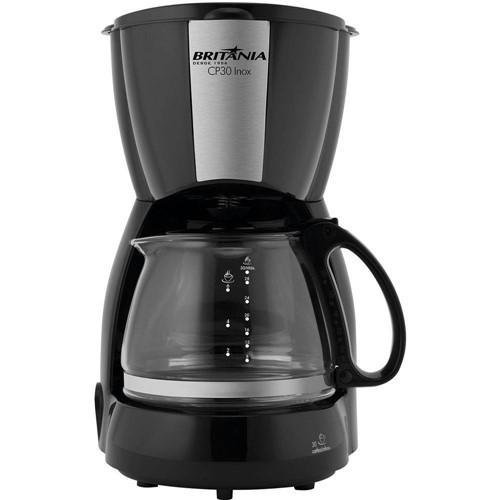 Cafeteira Elétrica Britânia CP 30 Jarra de Vidro Até 30 Xícaras - Preto