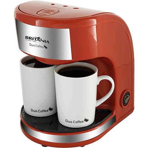 Cafeteira Elétrica Britânia Duo Coffee 2 Xícaras Vermelha - 450W