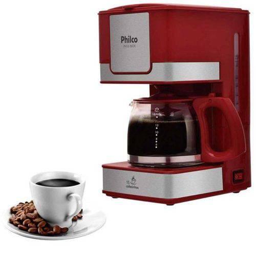Cafeteira Elétrica Philco PH31, Vermelho Aço Escovado - 110V