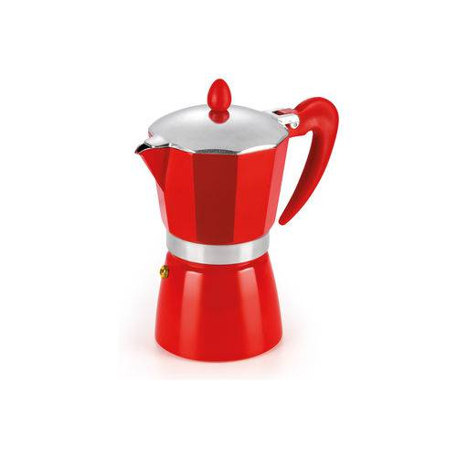 Cafeteira Hércules Italiana 6 Xícaras Vermelha