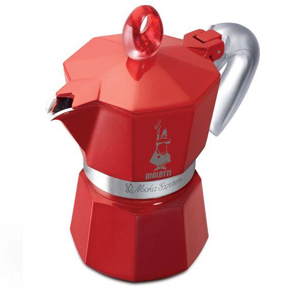 Cafeteira Moka 3 Xícaras Vermelha Bialetti