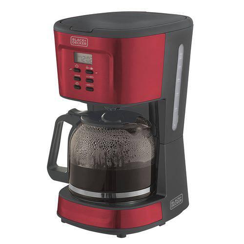Cafeteira P/ 30 Cafés Black+Decker CMP Programável 220 V Vermelho Metálico