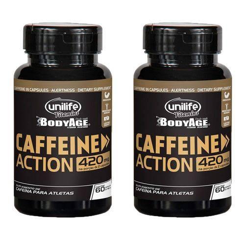 Caffeine Action (Cafeína) 420mg - 2 Un de 60 Cápsulas - Unilife