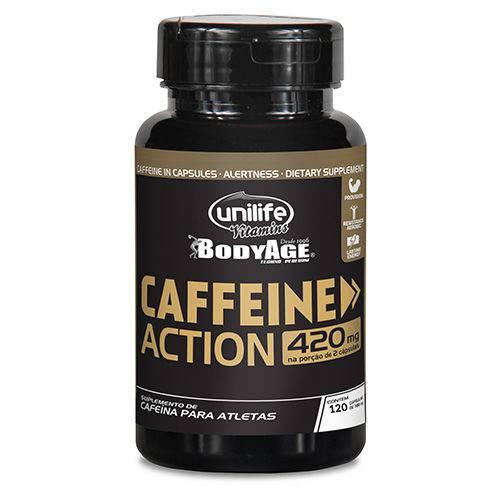 Caffeine Action Cafeína - Unilife - 120 Cápsulas