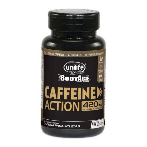 Caffeine Action Cafeína - Unilife - 60 Cápsulas