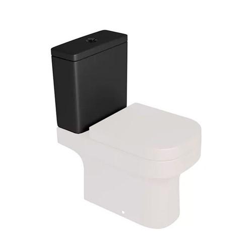 Caixa Acoplada Duoflux Ébano Fosco com Botão de Acionamento Black Mate para os Modelos Quadra, Piano, Polo, Unic e Axis CD21F - Deca - Deca