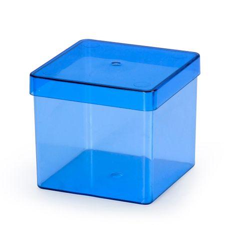Caixa Acrílica 8cm X 8cm Azul - Unidade