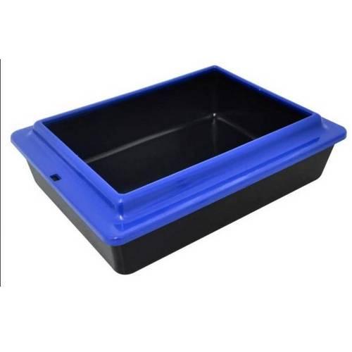Caixa Areia Banheiro Gatos Higienica para Areia com Borda Colorida Xixi Cat
