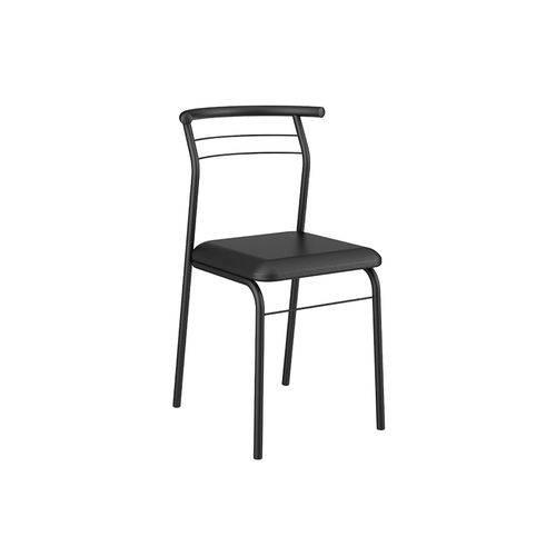 Caixa C/ 2 Cadeiras Carraro 1708 Color - Cor Preto - Assento Couríno Preto