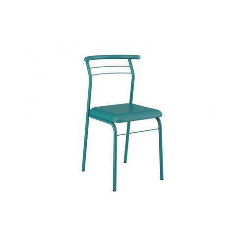 Caixa C/ 2 Cadeiras Carraro 1708 Color - Cor Turquesa/Assento Couríno Turquesa