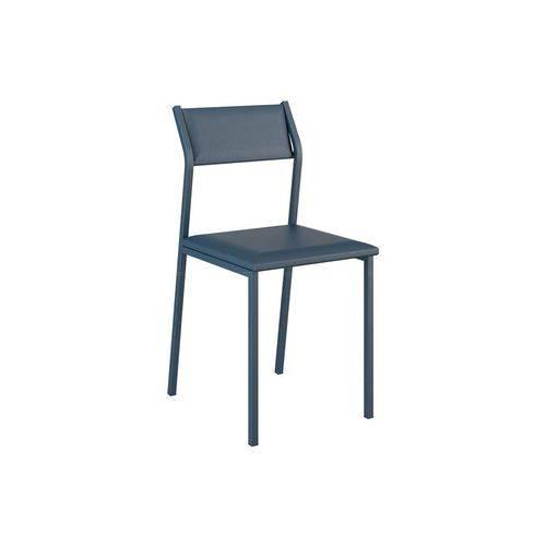 Caixa C/ 2 Cadeiras Carraro 1709 Color - Cor Azul Noturno/Ass./Enc. Couríno Azul Noturno