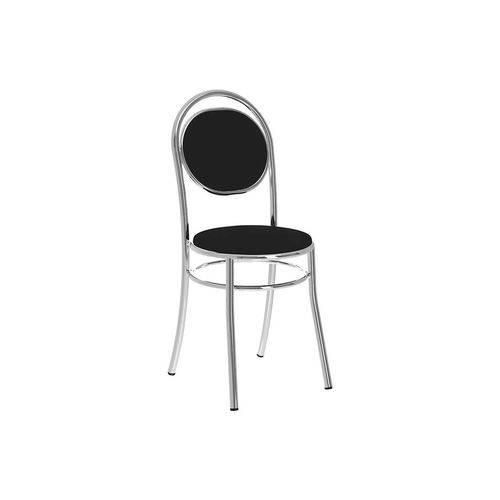 Caixa C/ 2 Cadeiras Carraro 190 - Cor Cromada/Assento/Encosto Couríno Preto