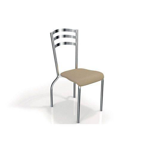 Caixa C/ 2 Cadeiras Kappesberg Portugal 2c007cr - Cor Cromada - Assento Nude 16