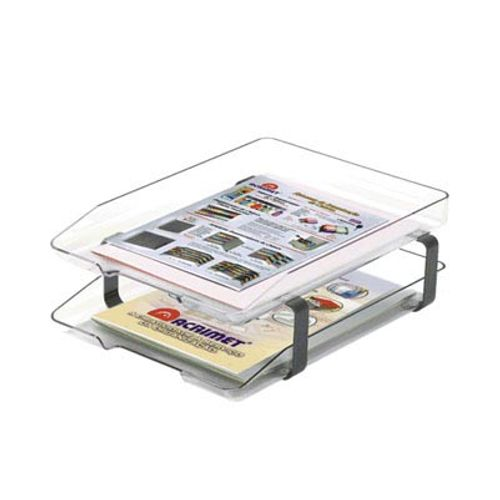 Caixa de Correspondência Dupla Acrílica Cristal Acrimet 990780
