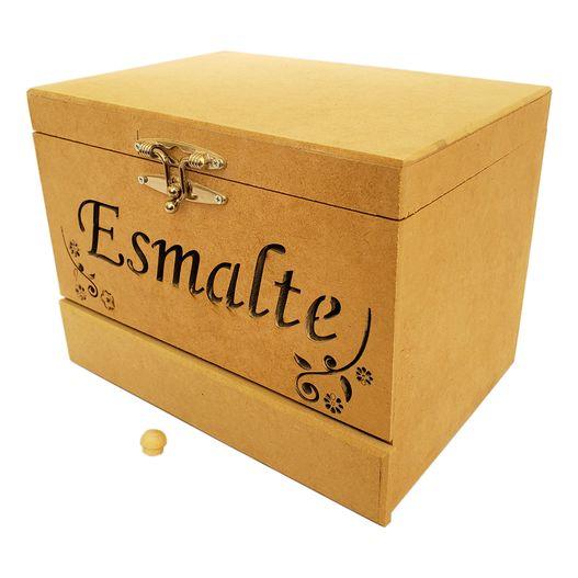Caixa de Esmalte com Gaveta P em MDF