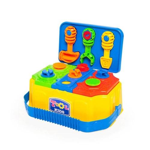 Caixa de Ferramentas Tool Kids 885 Calesita Amarelo Amarelo