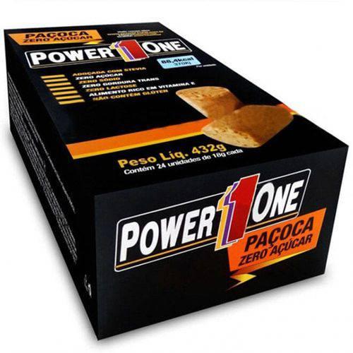 Caixa de Paçoca Zero Adição de Açúcar Power One 24 Unidade
