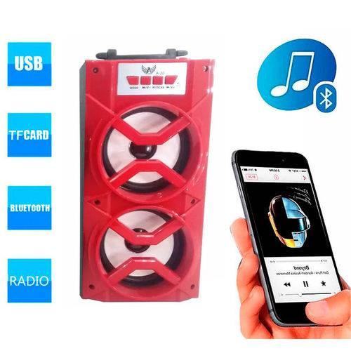 Caixa de Som A-20 Altomex Bluetooth Portátil Led Usb Mp3 Radio Fm Vermelha