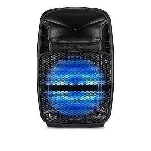 Caixa de Som Amplificadora Ativa 8 Pol com Blutooth Usb Fm Aux Sd e Led - Sp293