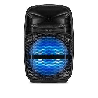 Caixa de Som Amplificadora Ativa 8 Polegadas com Blutooth/USB/FM/AUX/SD/ e LED - SP293 SP293
