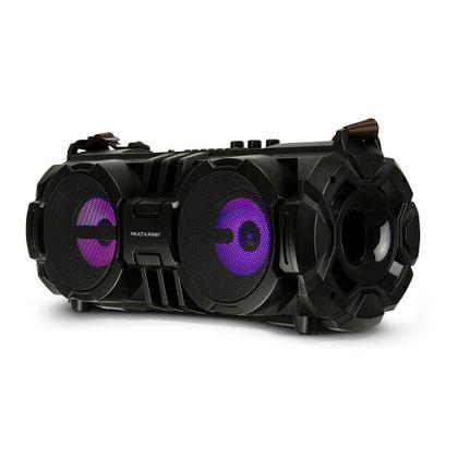 Caixa de Som Bazooka Bluetooth, Sd, Usb, Aux, Fm, Mic 100W Rms Preta Multilaser - SP302 SP302