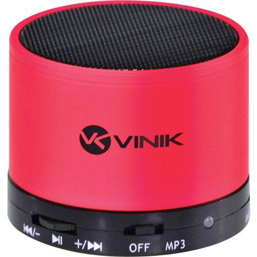 Caixa de Som Bluetooth com Fm Entrada Microsd e Mic 3w Rms Musicbox Vermelho