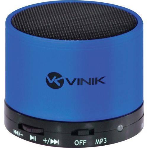 Caixa de Som Bluetooth Fm/microsd/mic 3w Rms Music Box Azul - Vinik