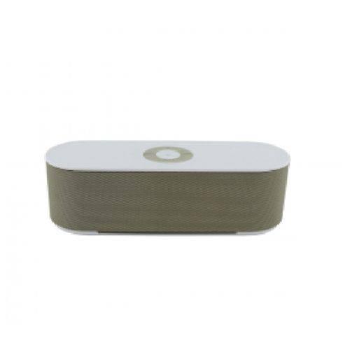 Caixa de Som Bluetooth Portatil S207 SD P2 USB Dourado S207