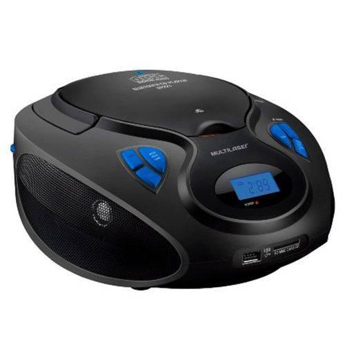 Caixa de Som Boombox Bluetooth Preta Multilaser SP223
