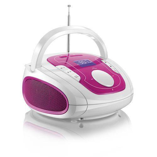 Caixa de Som Boombox Bluetooth Som 5 em 1 Rosa e Branca Multilaser - Sp187