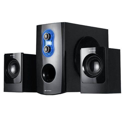 Caixa de Som C3tech Sp-100bk 2.1 20w Rms Fm/ Sd/ Usb Controle Remoto