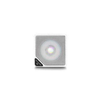 Caixa de Som Cubo Speaker com 3W Luz de LED Conexão USB Bluetooth AUX Entrada Cartão Micro SD Branco Multilaser - SP306 SP306