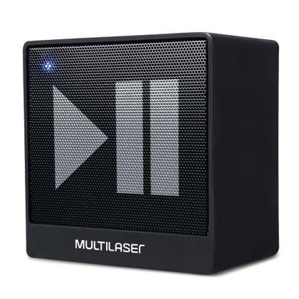 Caixa de Som Mini Aux 8W Bluetooth Preto Multilaser - SP277 SP277