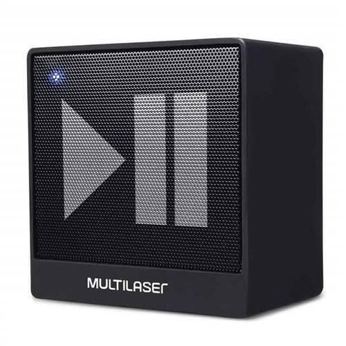 Caixa de Som Mini Aux 8w Bluetooth Preto Multilaser Sp277