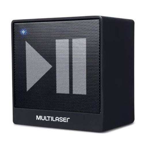 Caixa de Som Mini Aux 8w Bluetooth Preto Multilaser