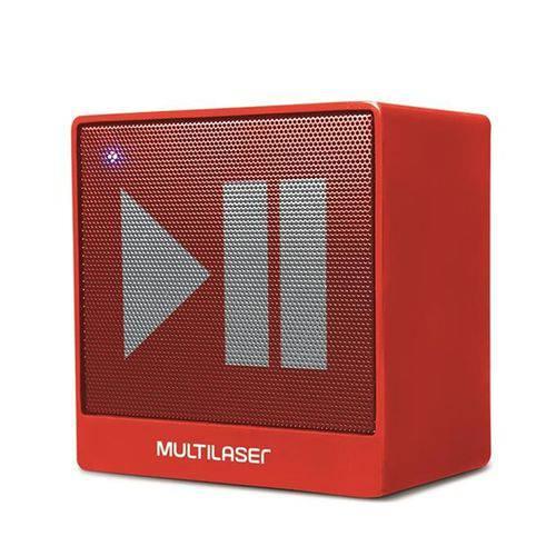 Caixa de Som Mini Aux 8W Bluetooth Vermelha Multilaser - SP279