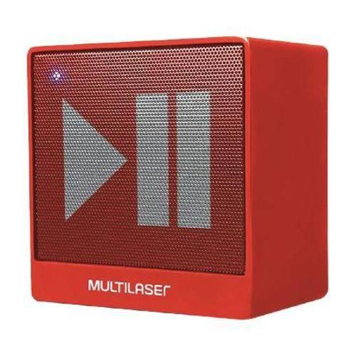 Caixa de Som Mini Bluetooth Auxiliar 8w Vermelha Sp279