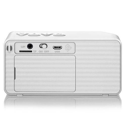 Caixa de Som Multilaser Bluetooth 8W RMS Branco - SP176