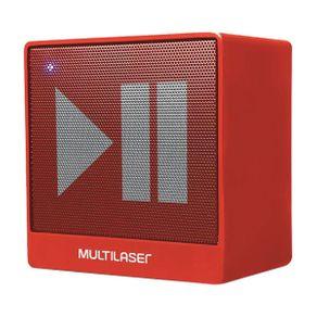 Caixa de Som Multilaser Bluetooth Auxiliar SP279 8W Vermelha