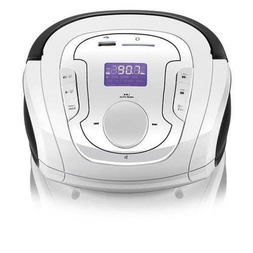 Caixa de Som Multilaser Boombox Bluetooth 5 em 1 Branco e Preta Sp185