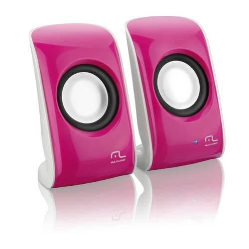Caixa de Som Multilaser Compact Power Pink SP132