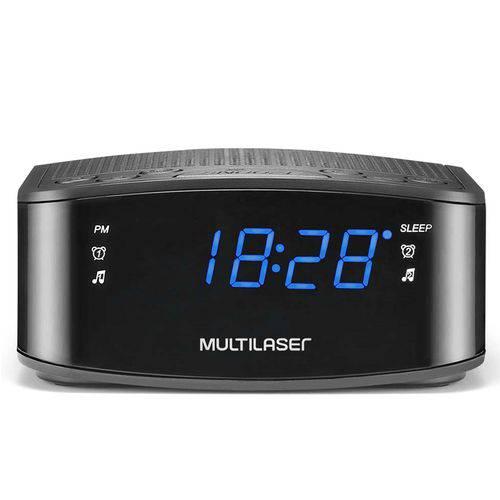 Caixa de Som Multilaser Radio Relógio 1w