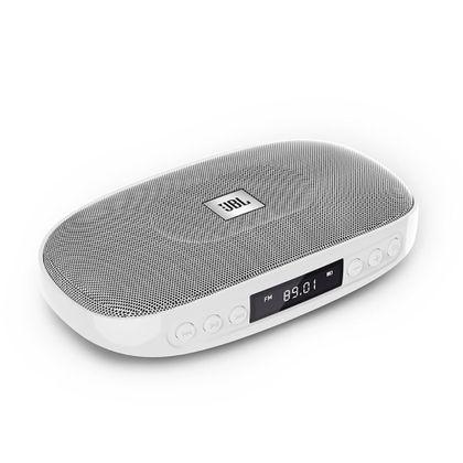 Caixa de Som Portátil JBL Tune Silver - Bluetooth / USB / SD / FM