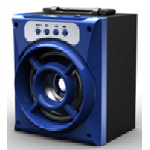 Caixa de Som Portátil Ms-132bt Fm Bluetooth Usb Tf Azul