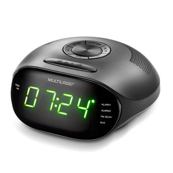 Caixa de Som Radio Relogio 5w LED Verde Bivolt - SP202 SP202