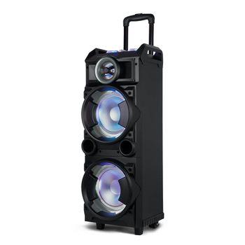 Caixa de Som Torre Double 8 Bt/Fm/Usb/Sd/Aux. Microfone 300W Preto -SP282 SP282