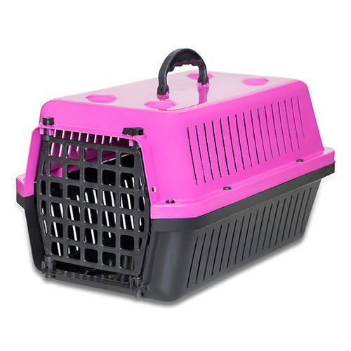 Caixa de Transporte para Cães e Gatos Rosa N 1