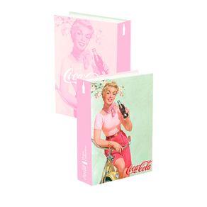 Caixa Decorativa Livro Pin Up Collection Coca-Cola