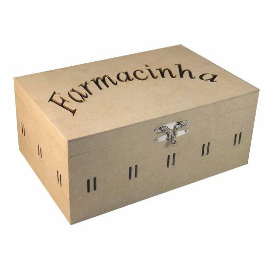 Caixa Farmacinha Escrita com Passa Fita Grande - MDF a Laser